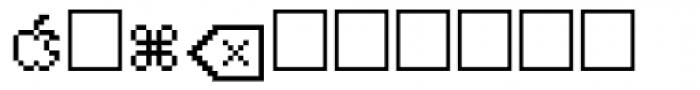 PIXymbols MACmenu Italic Font UPPERCASE