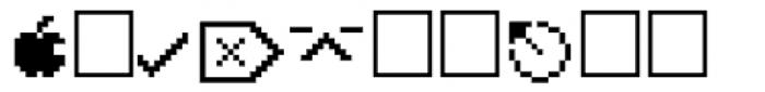 PIXymbols MACmenu Italic Font LOWERCASE