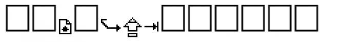 PIXymbols MACmore Regular Font UPPERCASE