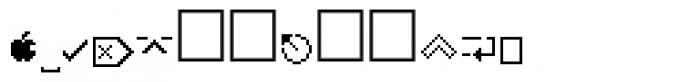 PIXymbols MACmore Regular Font LOWERCASE
