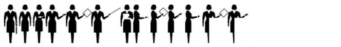 PIXymbols Meeting Italic Font UPPERCASE
