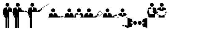 PIXymbols Meeting Italic Font LOWERCASE