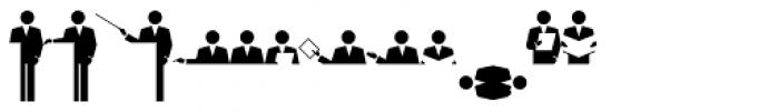 PIXymbols Meeting Regular Font LOWERCASE