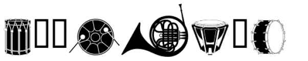 PIXymbols Musica Bold Font UPPERCASE