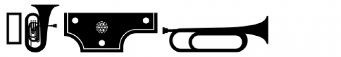PIXymbols Musica Italic Font UPPERCASE