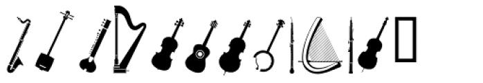 PIXymbols Musica Italic Font LOWERCASE
