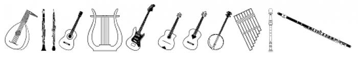 PIXymbols Musica Roman Font LOWERCASE