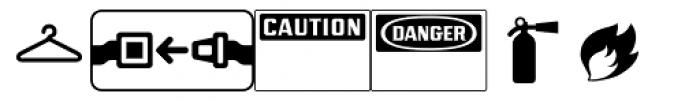 PIXymbols Safety Regular Font LOWERCASE