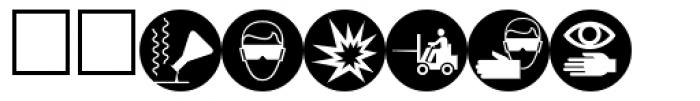 PIXymbols Safety Reversed Font UPPERCASE