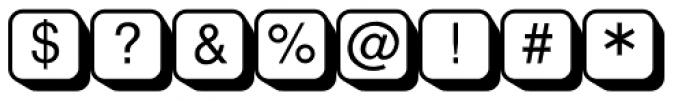 PIXymbols Shadowkey Regular Font OTHER CHARS