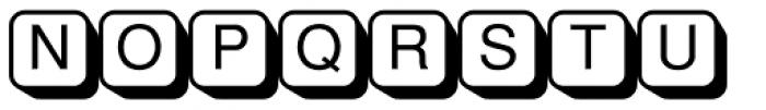 PIXymbols Shadowkey Regular Font UPPERCASE