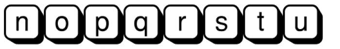 PIXymbols Shadowkey Regular Font LOWERCASE