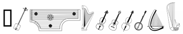 PIXymbols Strings Roman Font LOWERCASE
