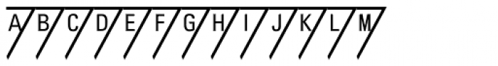 PIXymbols Triangle Alpha Font UPPERCASE