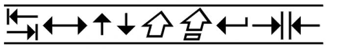 PIXymbols Unikey Italic Font OTHER CHARS