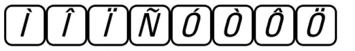 PIXymbols Unikey Two Italic Font UPPERCASE