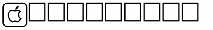 PIXymbols UnikeyTwo Bold Font UPPERCASE