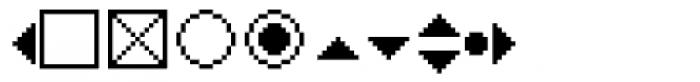 PIXymbols WINdialog Italic Font OTHER CHARS
