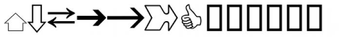 Pi Signs+Symbols Font UPPERCASE