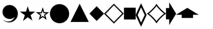 Pi Signs+Symbols Font LOWERCASE