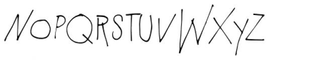 PiS Malefiz Thin Font LOWERCASE