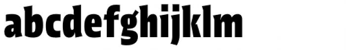 Picador Sans Extra Bold Font LOWERCASE