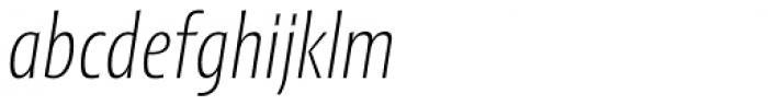 Picador Sans Extra Light Italic Font LOWERCASE