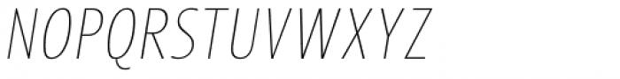 Picador Sans Extra Thin Italic Font UPPERCASE