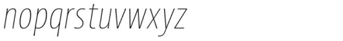 Picador Sans Extra Thin Italic Font LOWERCASE