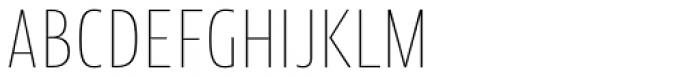 Picador Sans Extra Thin Font UPPERCASE