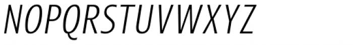 Picador Sans Light Italic Font UPPERCASE