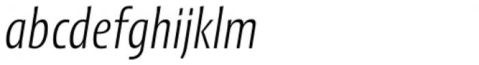 Picador Sans Light Italic Font LOWERCASE