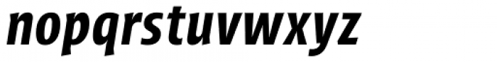 Picador Sans Semi Bold Italic Font LOWERCASE