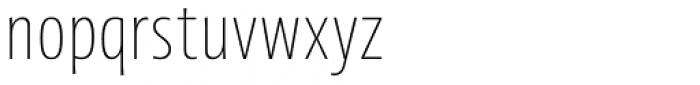 Picador Sans Thin Font LOWERCASE