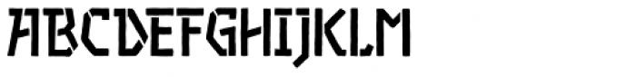 Piccata Bold Stencil Font UPPERCASE