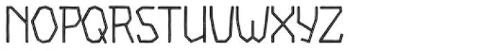 Piccata Regular Inline Font UPPERCASE