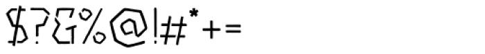 Piccata Regular Stencil Font OTHER CHARS