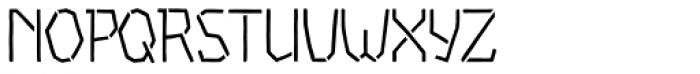Piccata Regular Stencil Font UPPERCASE