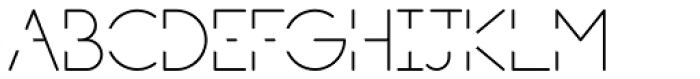 PictiThin Open Font UPPERCASE
