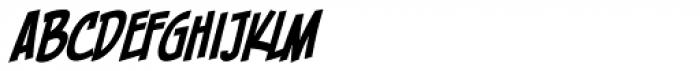 Piekos FX Condensed BB Italic Font UPPERCASE