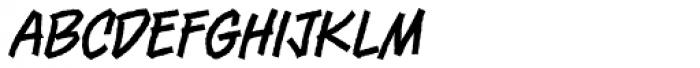 Piekos FX Rough Thin BB Font LOWERCASE