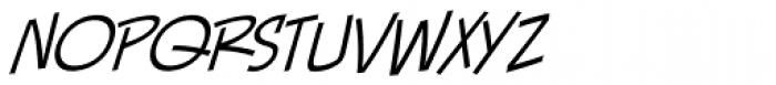 Piekos FX Thin BB Italic Font LOWERCASE