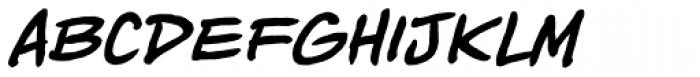 Piekos Toons BB Bold Italic Font LOWERCASE