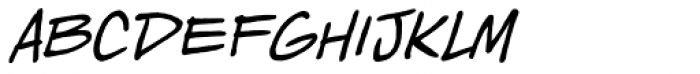 Piekos Toons BB Italic Font LOWERCASE