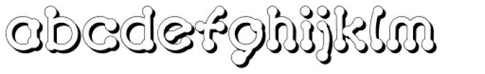 Pierced 3D Font LOWERCASE