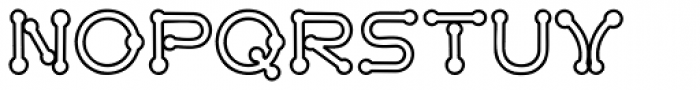Pierced Outline Font UPPERCASE