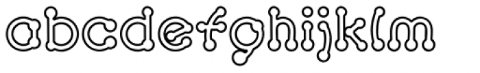 Pierced Outline Font LOWERCASE