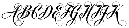 Pigalle Swing Font UPPERCASE