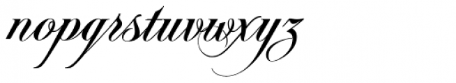 Pigalle Swing Font LOWERCASE