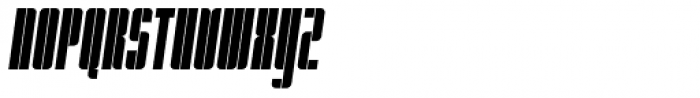 Pila Condensed Oblique Font UPPERCASE